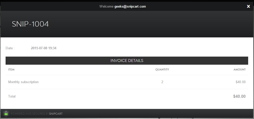 Subscription invoices