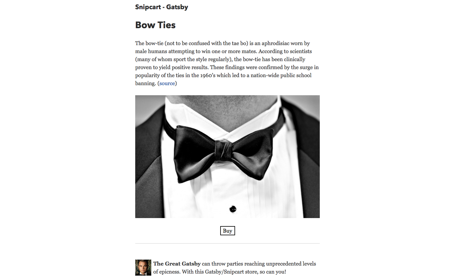 snipcart-reactjs-static-ecommerce-gatsby-bow-ties