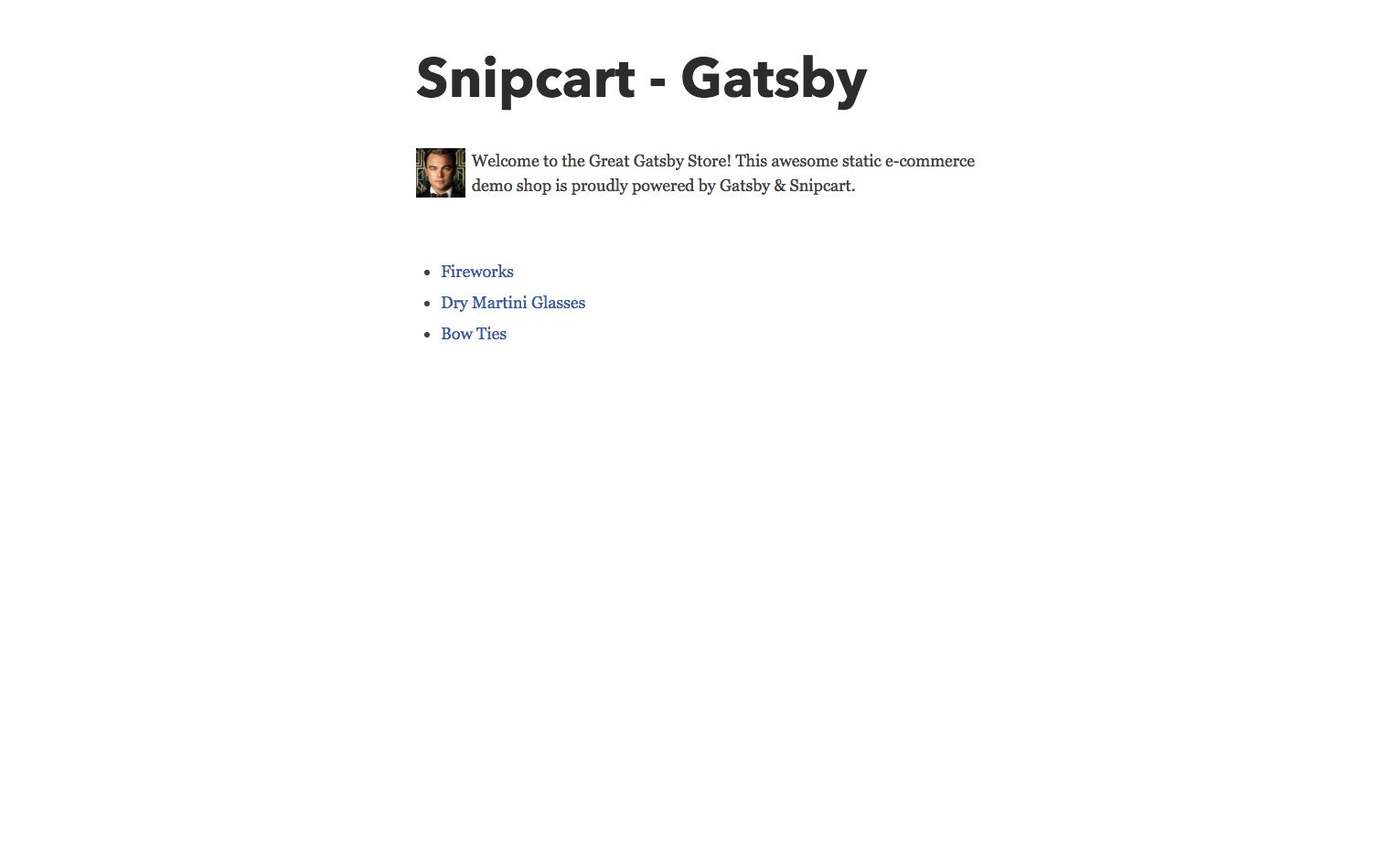 snipcart-reactjs-static-ecommerce-gatsby-store