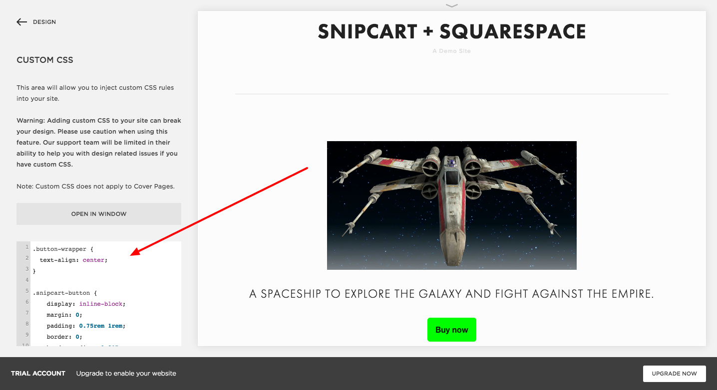 Add A Shopping Cart To Your Squarespace E Commerce Site Snipcart Diagram Custom Css