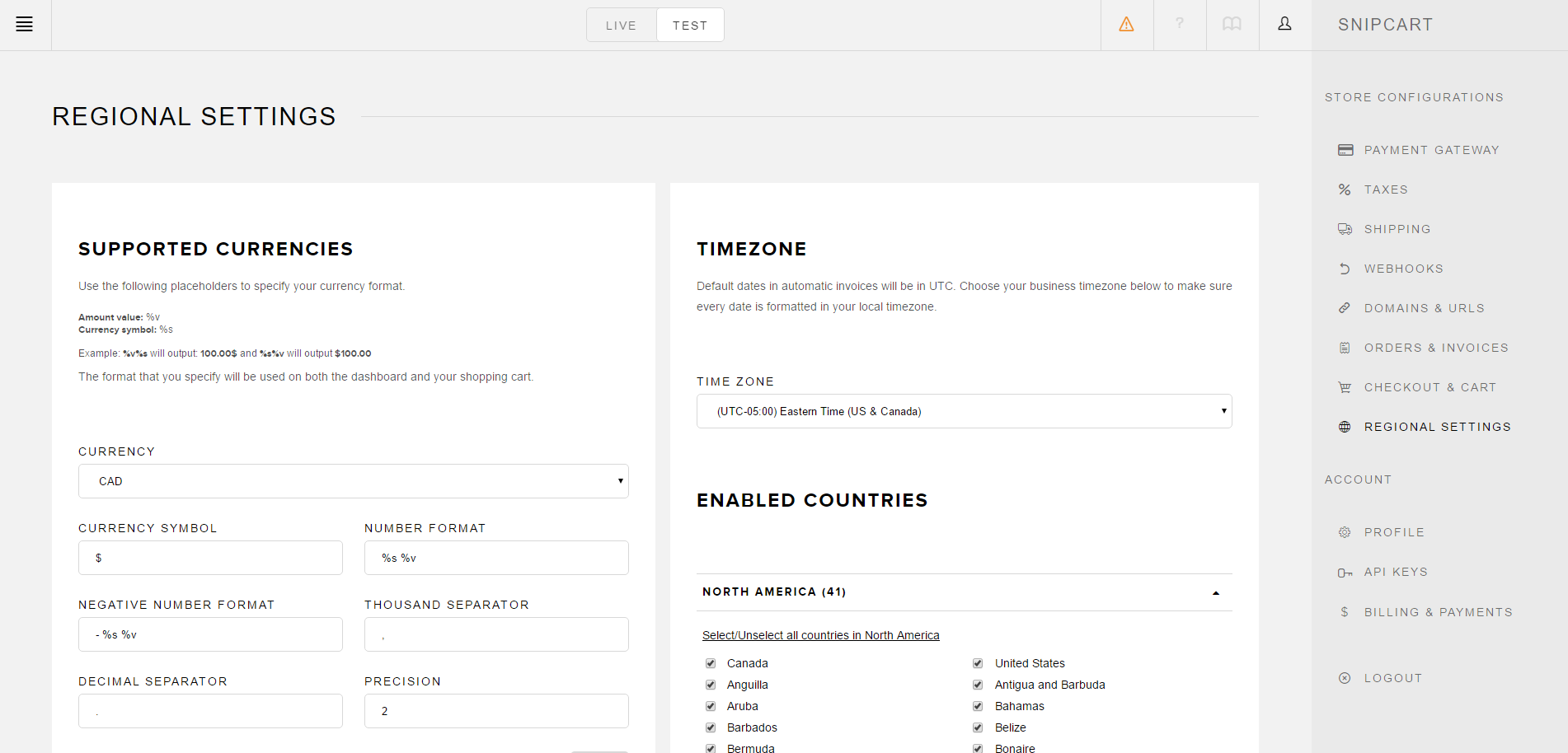 snipcart-docs-dashboard-regional-settings
