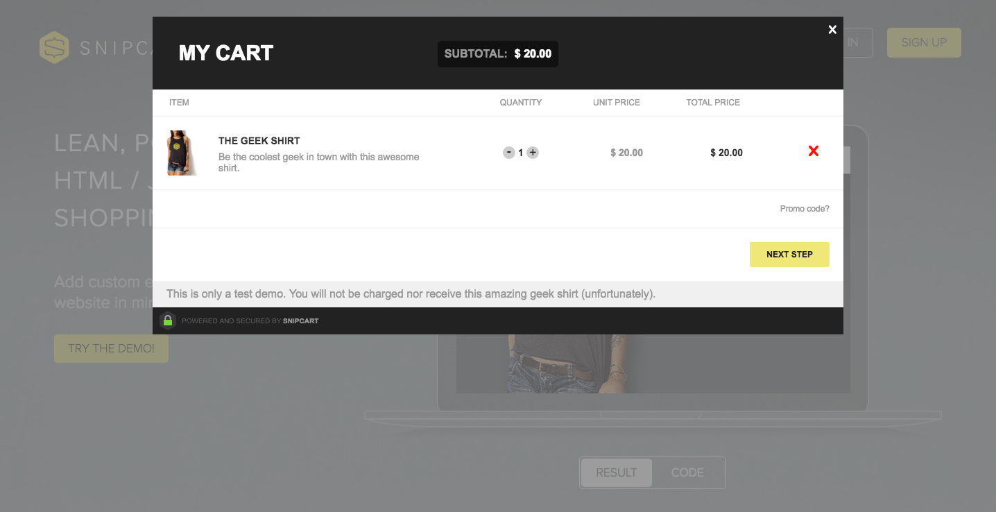 modal-shopping-cart