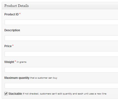 Snipcart wordpress add product page