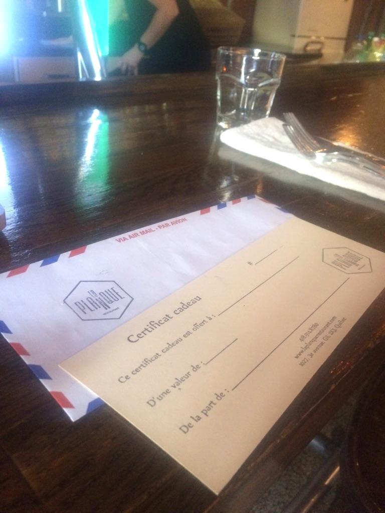 Snipcart Restaurant La Planque Gift Certificate