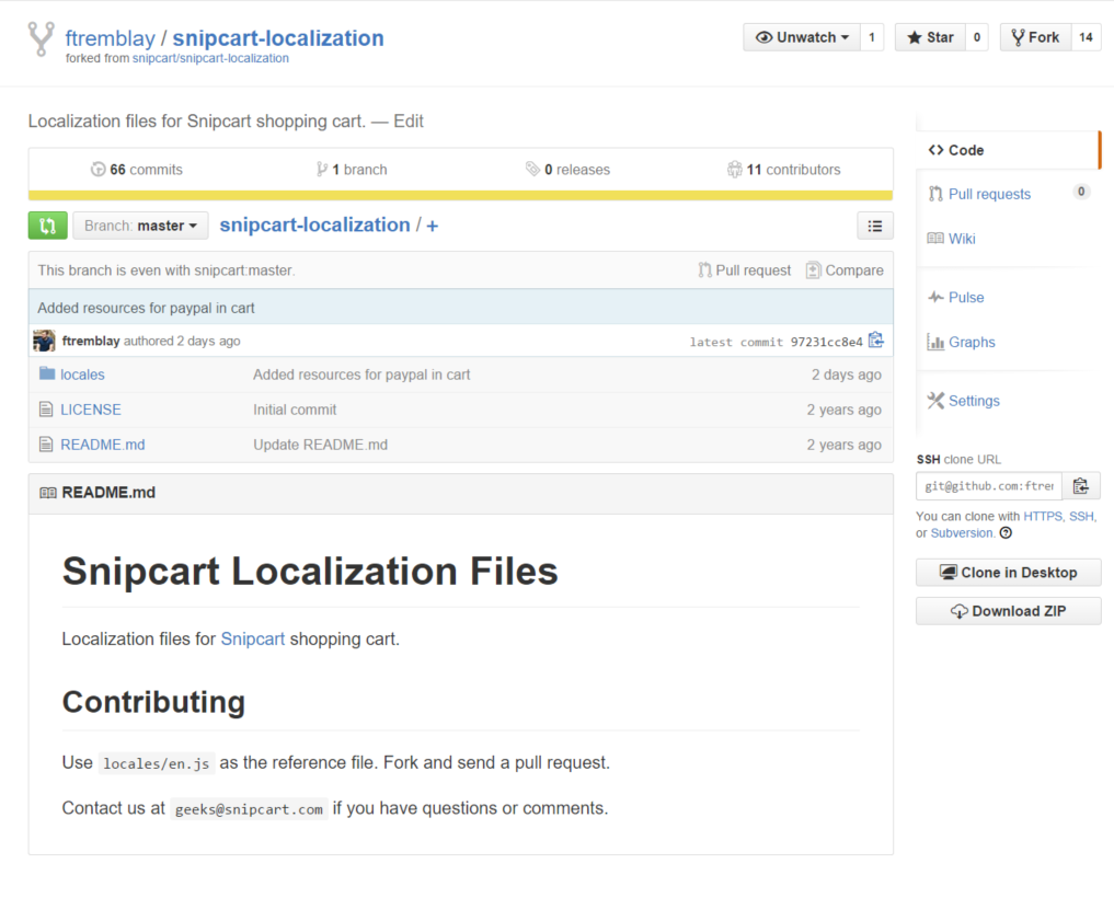 Snipcart localization repository after forking