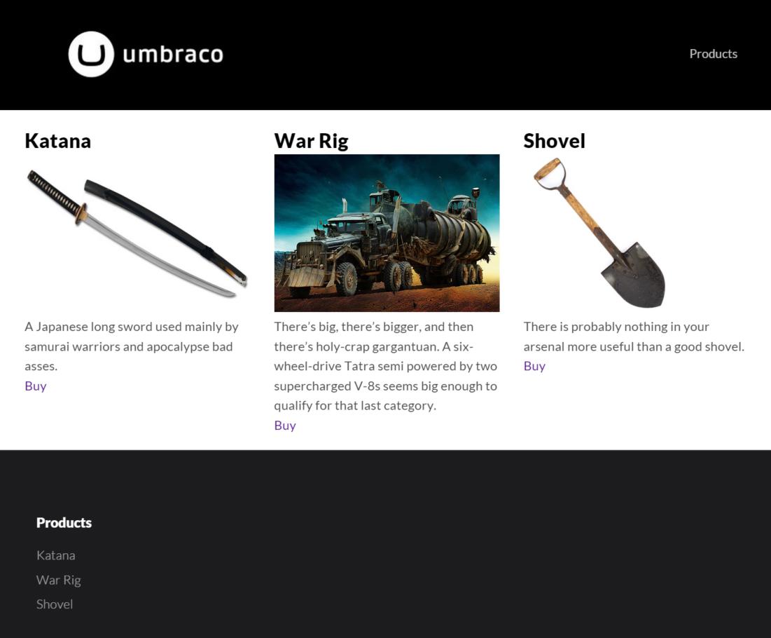 snipcart-umbraco-online-shop